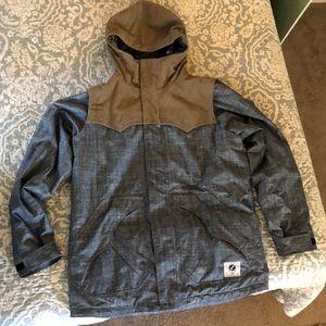 Men's Analog snow jacket. Size Lg